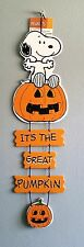 "20"" Peanuts Halloween Decor ft. Snoopy - It's the Great Pumpkin (Charlie Brown)"