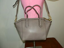 J. Crew Gray Pebble Leather Shoulder Bag Tote Hobo Handbag Purse