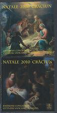 2010 Vaticano Vatican State Natale Emissione Congiunta Romania Sassone L 17 18
