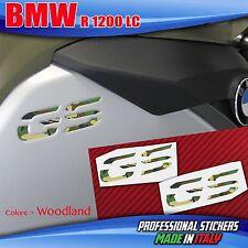 2 Adesivi Serbatoio Moto BMW R 1200 gs adventure LC per incasso Mimetico WOODLAN