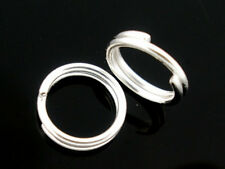 800 PCs Silver Plated Double Loops Open Jump Rings 6mm Dia. Findings
