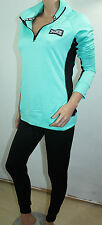 VICTORIA'S SECRET Pink Ultimate Half Zip Sweater & Gym Pant Green Small NWT