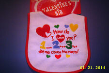 "cvs VALENTINES HOLIDAY BABY BIB MOC""how do i love you 1,2,3...let me count the w"