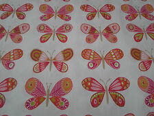 Harlequin/Scion Fabric 'Madame Butterfly 2.2 METRES Cerise/Pistachio/Chalk