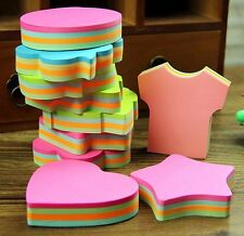 100 Cute Shape Sticker Post-It Bookmark Marker Memo Flags Index Tab Sticky Note