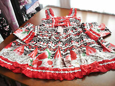 Bodyline Sweet Lolita Red and Black Strawberry Shortcake JSK Dress Size M NWT