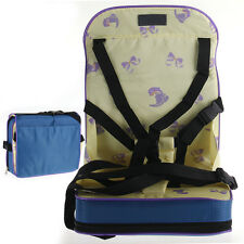 Portable Mini Infant Baby Dining Chair Booster Harness Wrap Travel Nylon Yellow