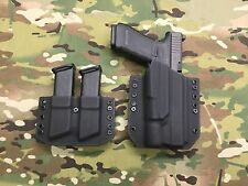 Black Kydex Light Holster Glock 34/35 Surefire X300 Ultra & Mag Carrier
