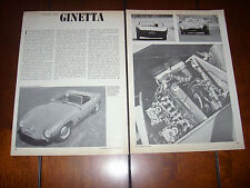 1965 GINETTA SPORTS CAR - ORIGINAL VINTAGE ARTICLE