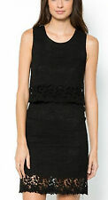 MADEMOISELLE R 2 in 1 STYLE LACE & GUIPURE LACE DETAIL DRESS SIZE 10 UK (EU 38)