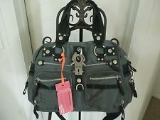 """George Gina & Lucy Large """"Double B"""" Olive Green Nylon Satchel MSRP $255+ New"""