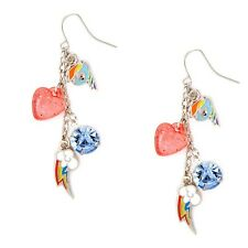 My Little Pony Rainbow Dash Charms Mismatched Drop Earrings Blue Hasbro Star