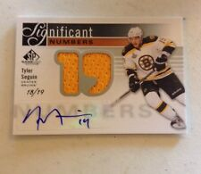 11-12 SP GAME USED SIGNIFICANT NUMBERS AUTOGARPH JERSEY TYLER SEGUIN 18/19