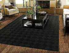 8 x 10 Area Rug Modern Black Carpet Stain Resistant Living Room Home Decor NEW