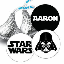 Star Wars Birthday Party, Darth Vader Personalized Hershey Kiss Sticker Favors