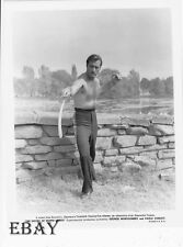 George Montgomery w/sword barechested VINTAGE Photo Sword Of Monte Cristo