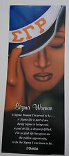 "SIGMA GAMMA RHO, ART PRINT WITH WORDS, TITLED: SIGMA WOMAN, 8"" X 20"""