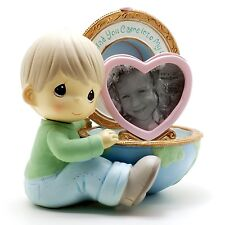 Precious Moments Boy with World Mini Photo Frame with Figurine # 113100