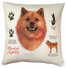 Finnish Spitz History Breed of Dog Cotton Cushion Cover - Perfect Gift
