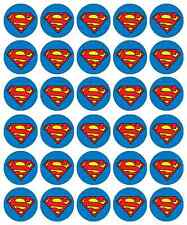Superman Logo Cupcake Toppers Edible Wafer Paper BUY 2 GET 3RD FREE!