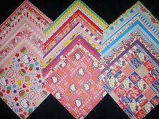 Hello Kitty Theme Sanrio 12x12 Scrapbook Paper 40 Sheets Wholesale Lot Kit Girl