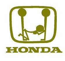 Honda Double fuck JDM Sticker Aufkleber OEM Power fun like Shocker Bitch Hater