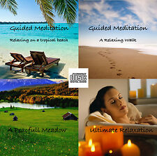 4 x Guided Meditation Relaxation Sessions on Audio CD FREE Postage UK
