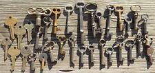 30 Assorted Antique Keys  Furniture Padlock  Skeleton  Cabinet  Mortise