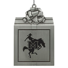 McNeese State University-Pewter Christmas Holiday Ornament-Silver