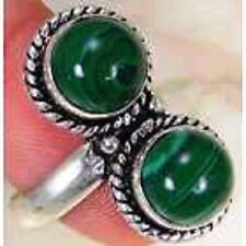 funky Lab Malachite & 925 Silver Handmade Elegants Ring Size Adjustable J1-55