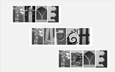 Alphabet Landscape Letters Photos Pictures Laminated LIVE LAUGH LOVE