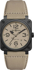 BR-03-92-DESERT-TYPE | BELL & ROSS AVIATION | NEW AUTHENTIC MENS AUTOMATIC WATCH