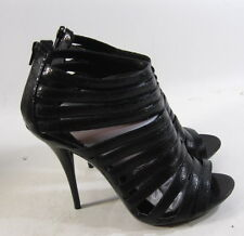 "blacks  4.5""Stiletto high heel  Michael  Antonio sexy shoes open toe  SIZE  8.5"