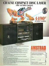 Publicité 1984  CHAINE COMPACT DISC LASER AMSTRAD Midi CD - 1000