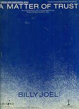 """BILLY JOEL """"A MATTER OF TRUST"""" PIANO-VOCAL-GUITAR SHEET MUSIC RARE BRAND NEW!!"""