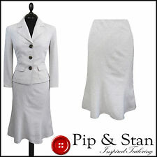 Próxima UK10/8 US6/4 crema y falda traje mujer Damas Mujer Tamaño