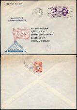 GB 1960 GUERNSEY + HERM ISLAND to GERMANY...OLYMPIC TRIANGULAR LABEL + FLAG PMK