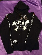 Nightmare Before Christmas Skull And Crossbones Hoodie Small