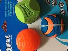 chuckit! fetch medley 2, 3 pack assorted medium balls 6.5CM