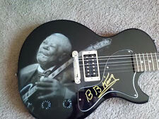 BB KING SIGNED CUSTOM GIBSON AIRBRUSHED GUITAR BLUES LEGEND COA PHOTO VINYL RIP