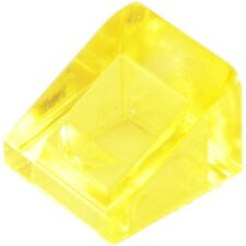 25 transparent Yellow 31 degree 1x1 LEGO Slope (18862)