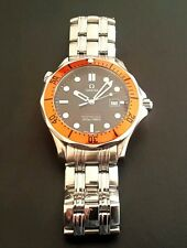 OMEGA Seamaster PRO 300 Men's Watch~James Bond~Custom Orange Bezel~41mm~WOW!