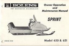 BOLENS SNOWMOBILE SPRINT 620, 621 OWNER,OPERATION,MAINTENANCE MANUAL (376)