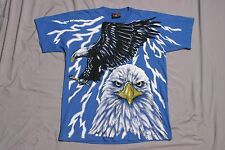 Vintage Eagle Lightning Magic Johnson T's L T-Shirt Made in USA All Over Print