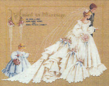 Cross Stitch Chart ~ Lavender & Lace The Wedding Bride and Groom #LL19