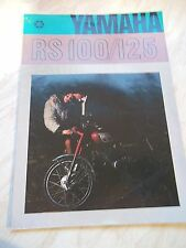 Promotional Brochure For YAMAHA 100/125 Motorcycle ex  Mead & Tomkinson Hereford