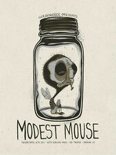 MODEST MOUSE PONOMA CA 2013 SILKSCREEN GIG POSTER SIGNED BY POSTER ARTIST