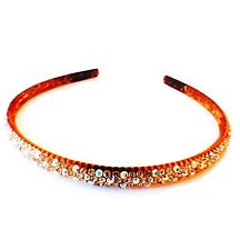 USA Handmade Headband Rhinestone Crystal Hairband Hairpin Bling Brown A04