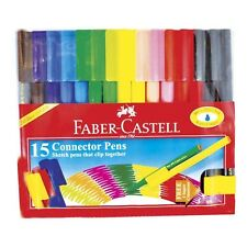 FABER CASTELL SET OF 15 FELT TIP CONNECTOR PENS - Artist & Craft Markers