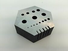 Hexagonal Anvil with 15 Holes and 5 Milled Slots